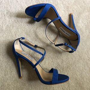 BRAND NEW-STEVE MADDEN- Blue Strappy Heels